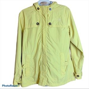 The North Face Lightweight Pale Yellow Rain Jacket
